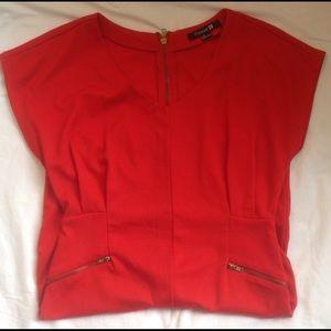 Forever 21 Red zipper Dress